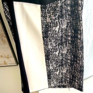 Vince Camino black and white pencil skirt